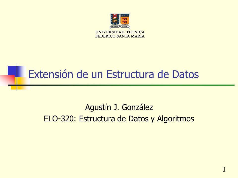 1 Extensión de un Estructura de Datos Agustín J. González ELO-320: Estructura de Datos y Algoritmos