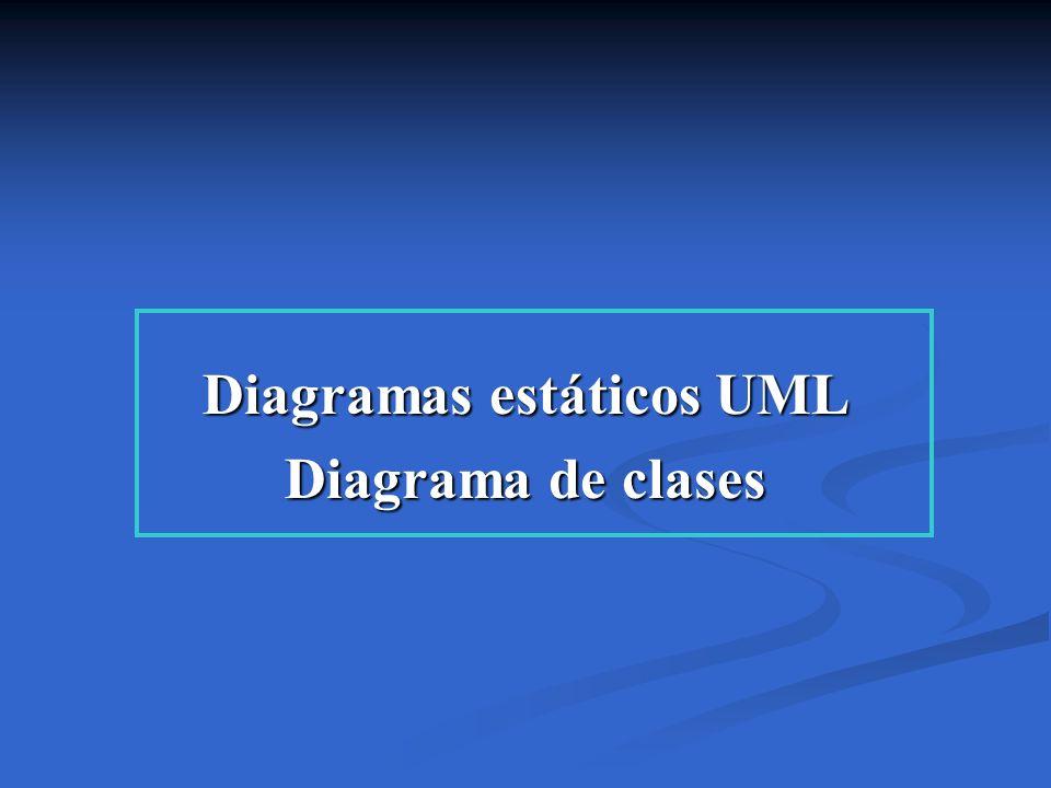Diagramas estáticos UML Diagrama de clases