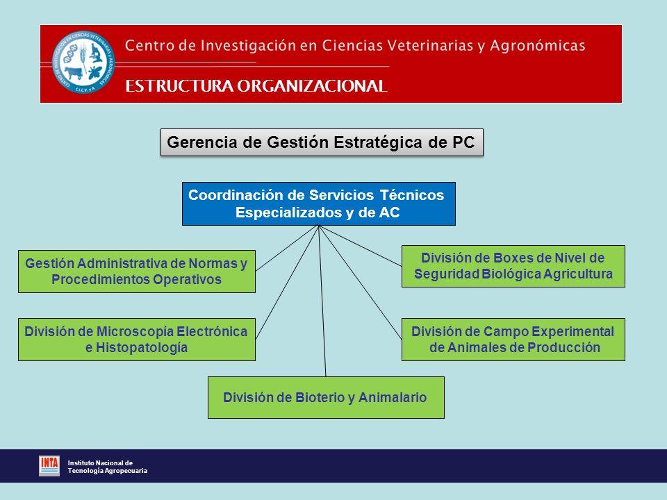 Coordinación de Servicios Técnicos Especializados y de AC Gerencia de Gestión Estratégica de PC División de Microscopía Electrónica e Histopatología D
