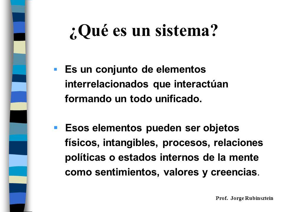 Características de los sistemas (I) 1.