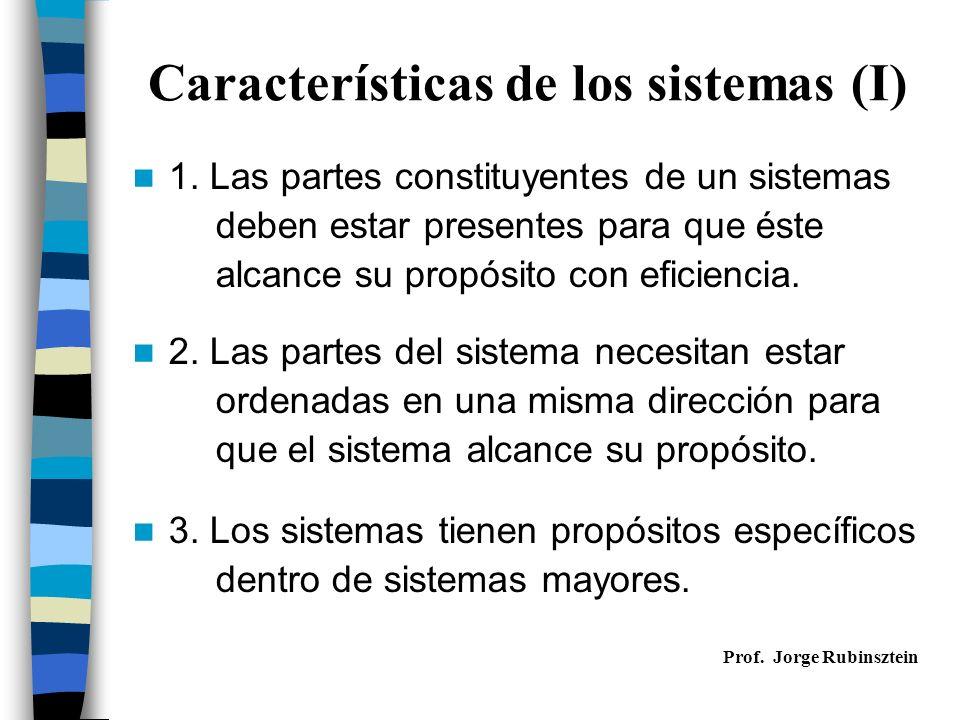 Características de los sistemas (II) 4.