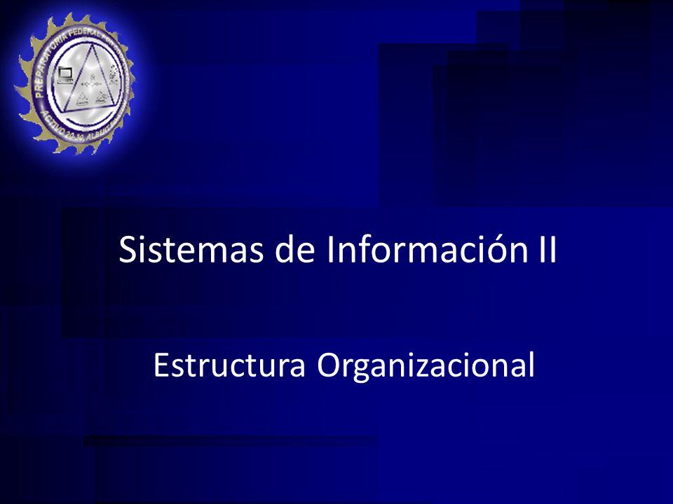Estructura Organizacional Sistemas de Información II