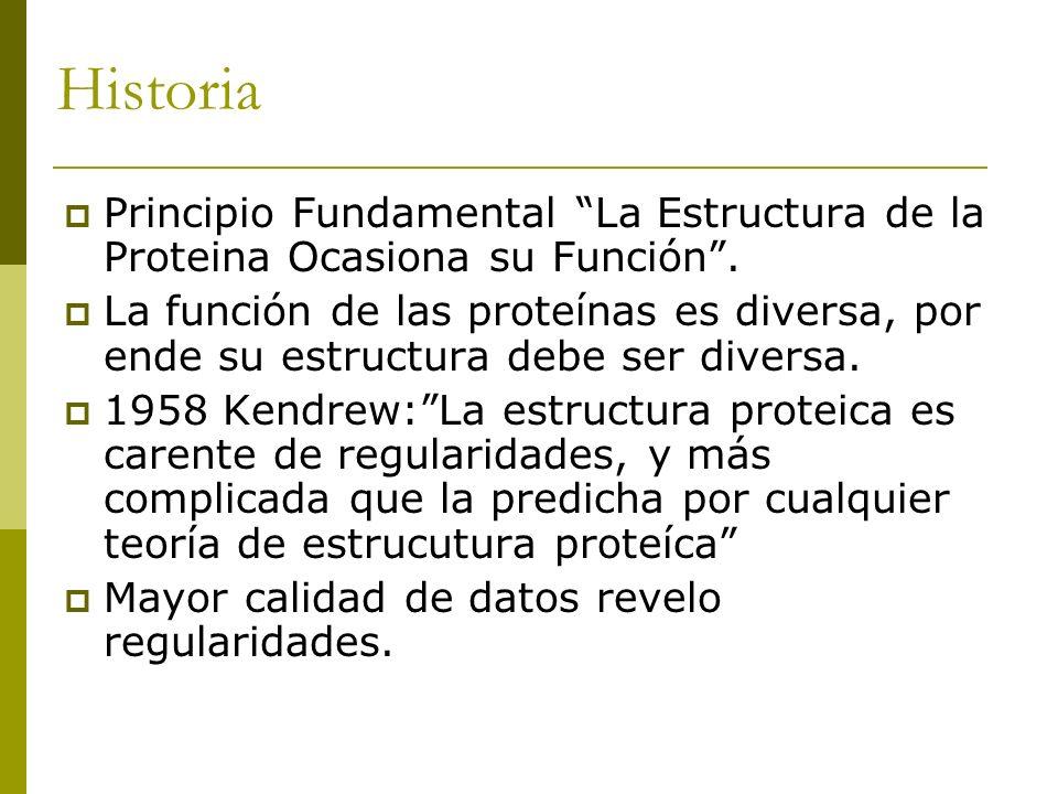 Historia Principio Fundamental La Estructura de la Proteina Ocasiona su Función. La función de las proteínas es diversa, por ende su estructura debe s