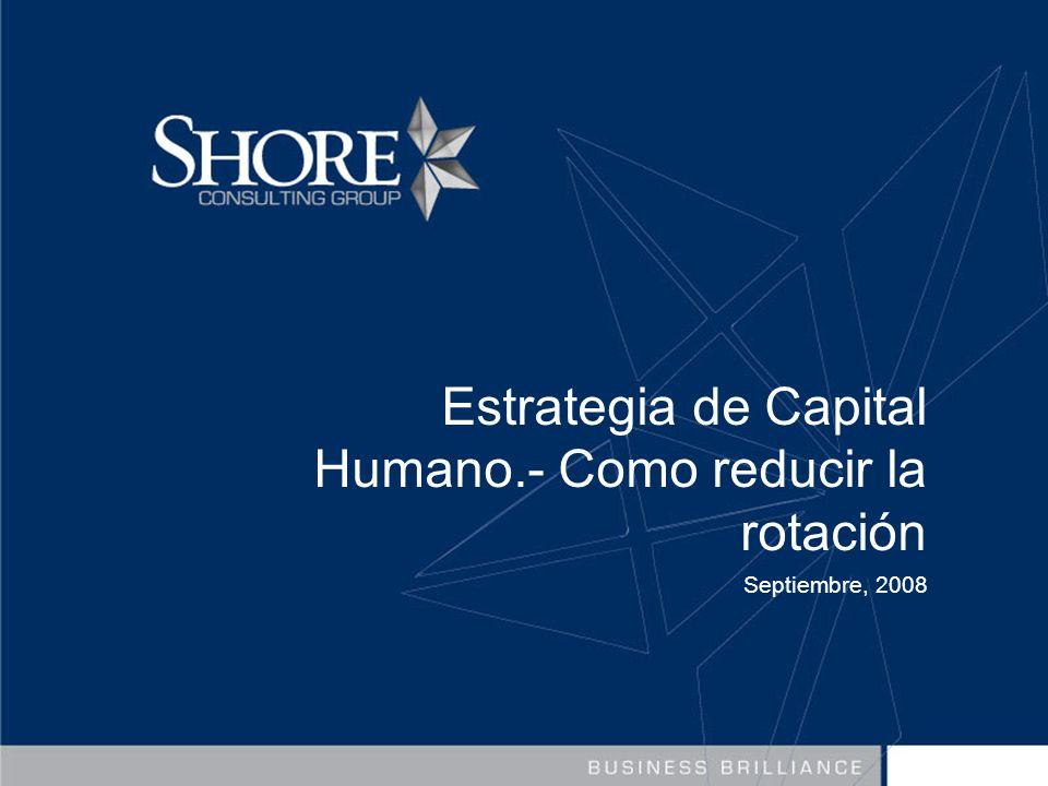 Estrategia de Capital Humano.- Como reducir la rotación Septiembre, 2008
