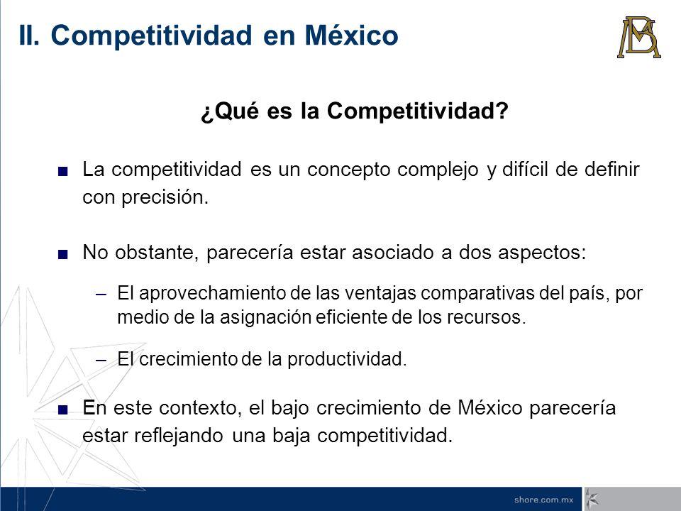 ¿Qué es la Competitividad? La competitividad es un concepto complejo y difícil de definir con precisión. No obstante, parecería estar asociado a dos a