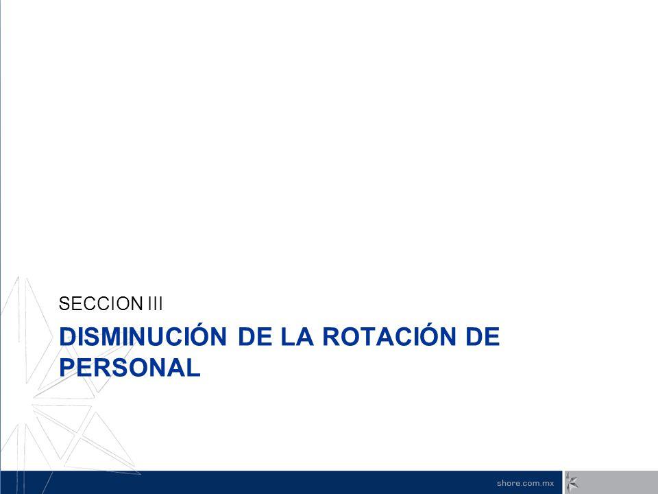 DISMINUCIÓN DE LA ROTACIÓN DE PERSONAL SECCION III