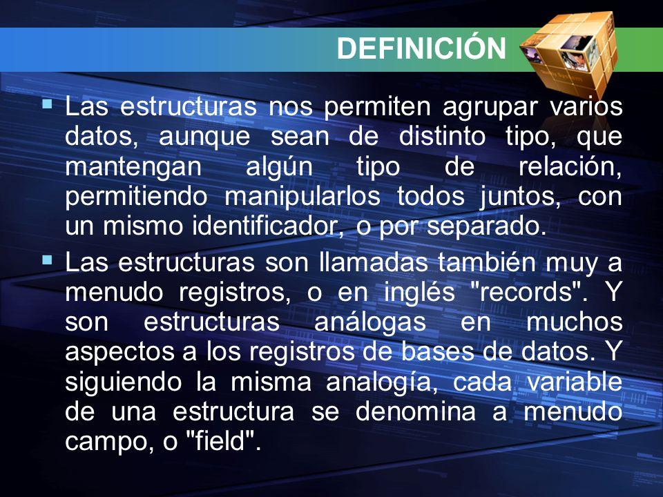 Los componentes individuales de una estructura se llaman miembros.