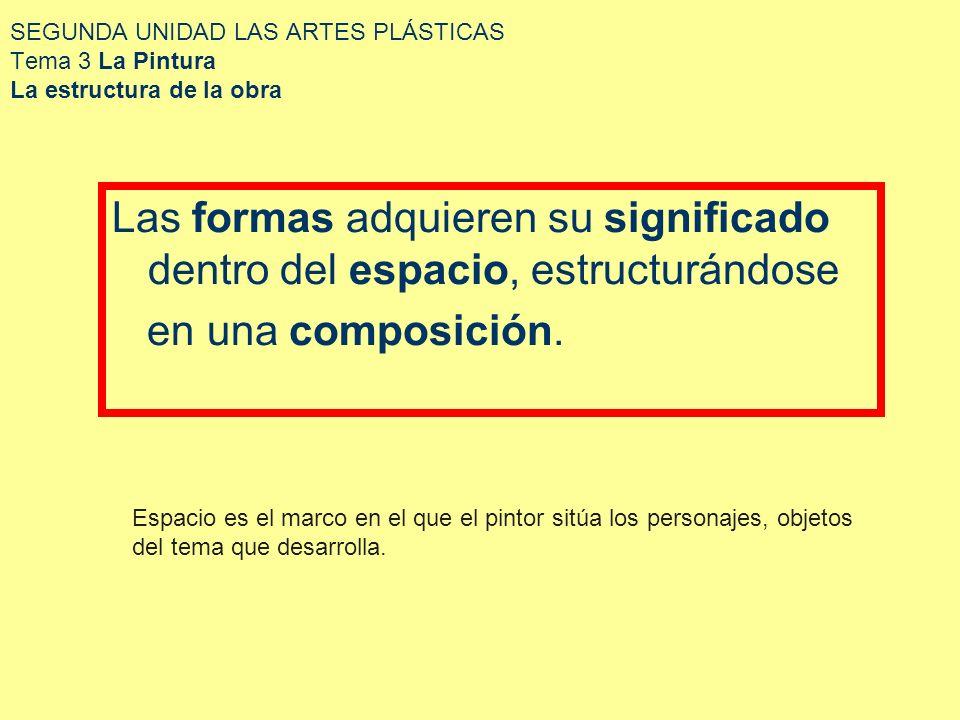 SEGUNDA UNIDAD LAS ARTES PLÁSTICAS Tema 3 La Pintura La estructura de la obra 52.