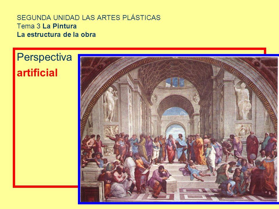 SEGUNDA UNIDAD LAS ARTES PLÁSTICAS Tema 3 La Pintura La estructura de la obra Perspectiva artificial