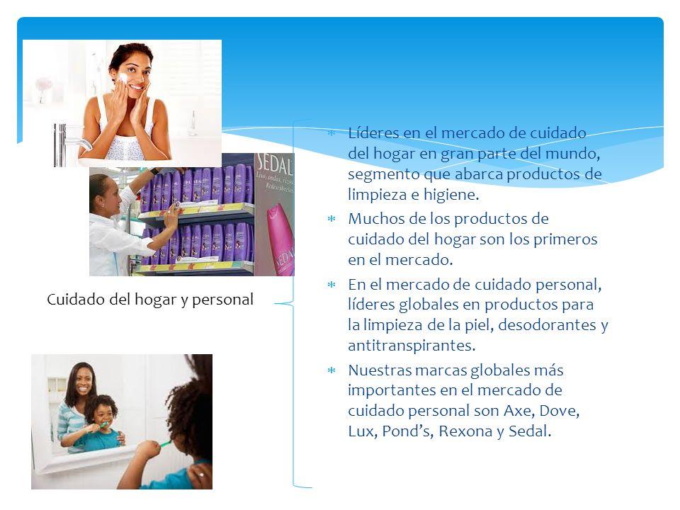 Líderes en el mercado de cuidado del hogar en gran parte del mundo, segmento que abarca productos de limpieza e higiene. Muchos de los productos de cu