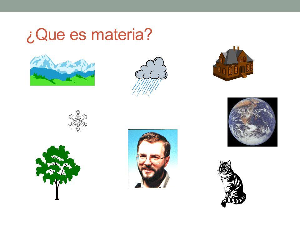 ¿Que es materia?