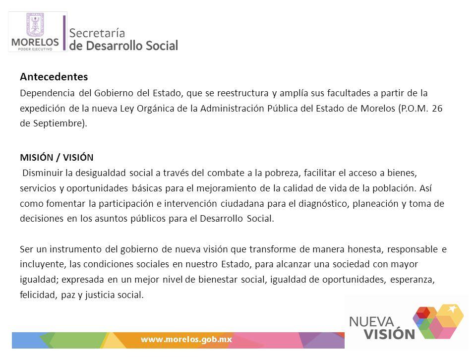 Ejes estratégicos dentro del Plan Estatal de Desarrollo (Eje 2): Desarrollo Social y Construcción de Ciudadanía Estrategia para la Paz y la Reconciliación Seguridad y Reconstrucción del Tejido Social Inversión Social para la Reconciliación.
