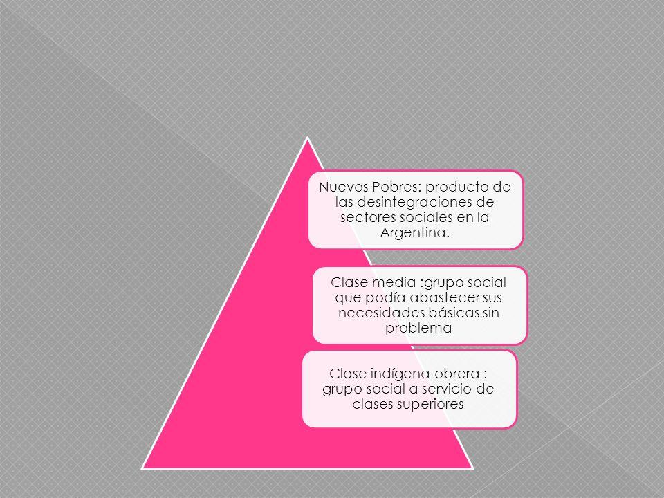 Nuevos Pobres: producto de las desintegraciones de sectores sociales en la Argentina.