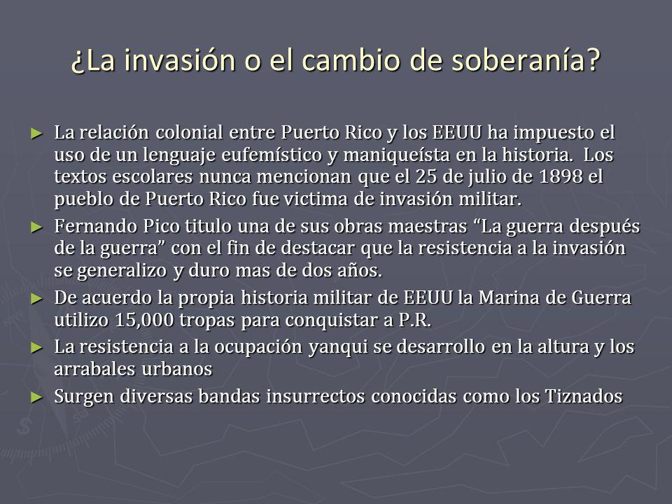 ¿La invasión o el cambio de soberanía? La relación colonial entre Puerto Rico y los EEUU ha impuesto el uso de un lenguaje eufemístico y maniqueísta e