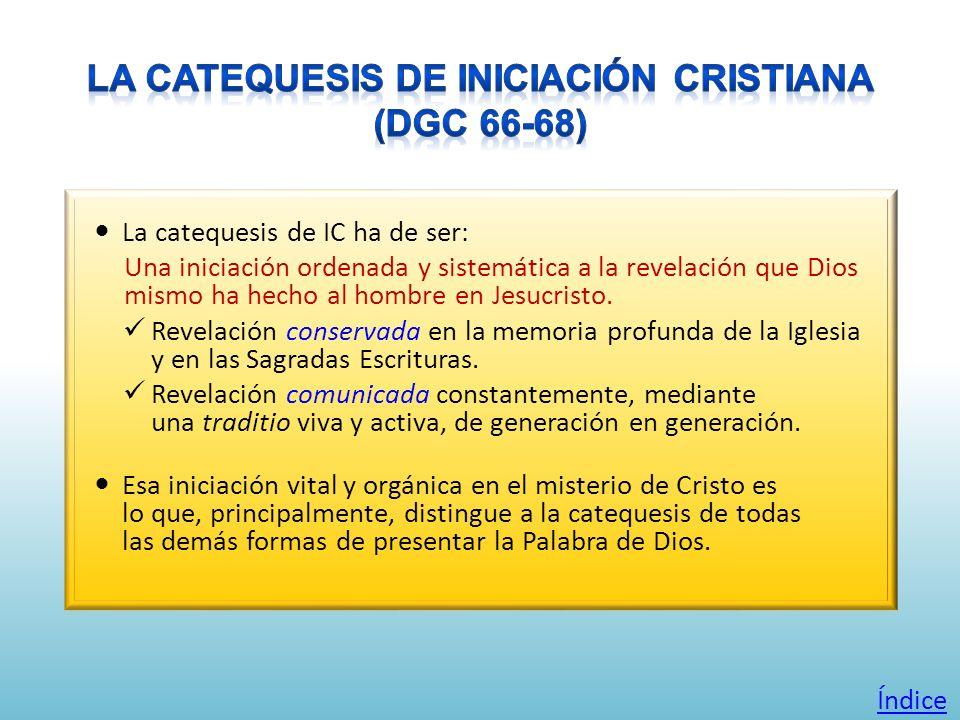 La catequesis de IC ha de ser: Una iniciación ordenada y sistemática a la revelación que Dios mismo ha hecho al hombre en Jesucristo. Revelación conse