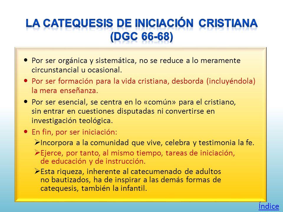Por ser orgánica y sistemática, no se reduce a lo meramente circunstancial u ocasional. Por ser formación para la vida cristiana, desborda (incluyéndo