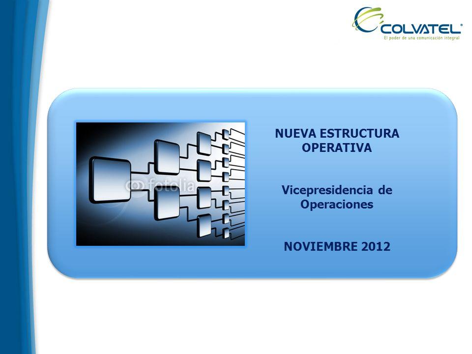 NUEVA ESTRUCTURA OPERATIVA Vicepresidencia de Operaciones NOVIEMBRE 2012