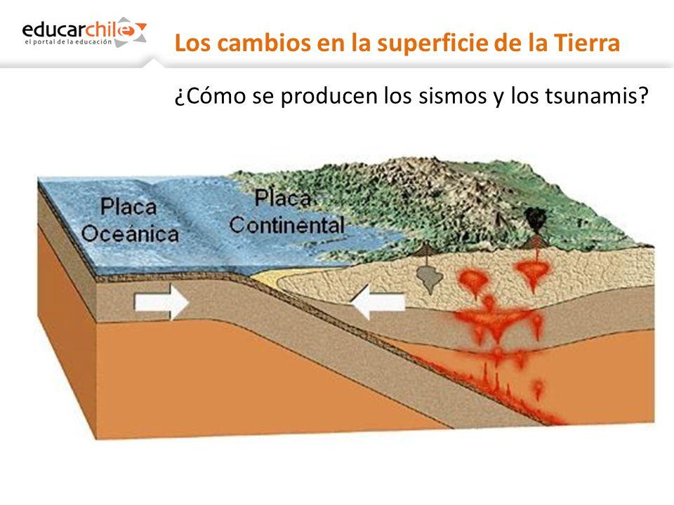 Los cambios en la superficie de la Tierra ¿Cómo se producen los sismos y los tsunamis?