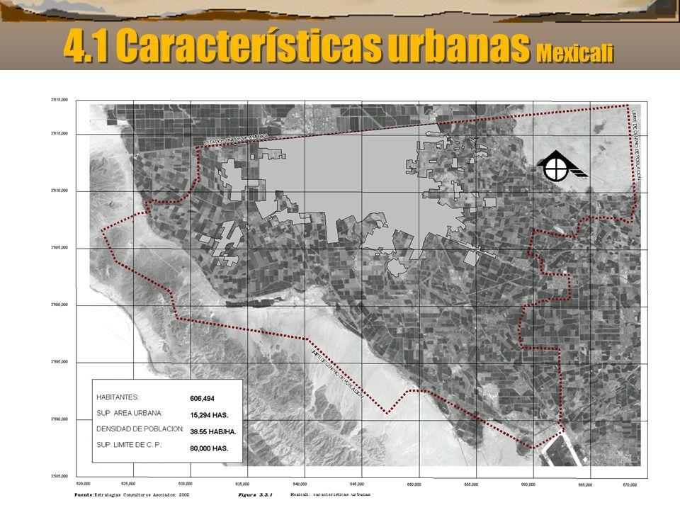 4.1 Características urbanas Mexicali