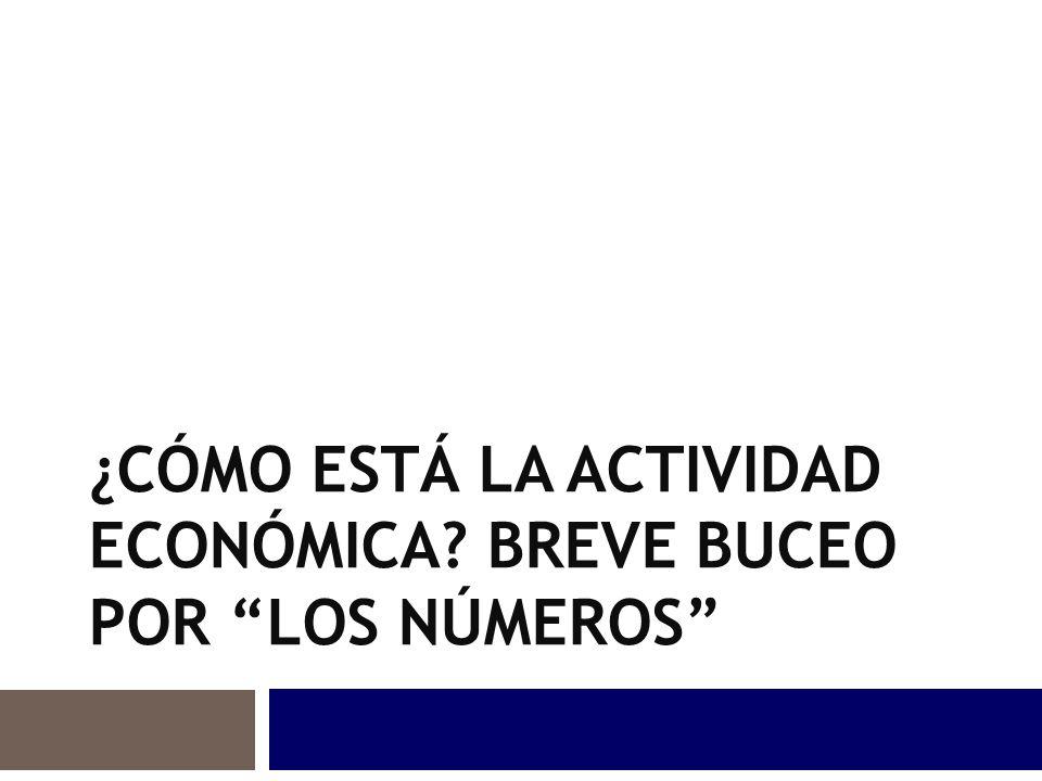 Las medidas de política fiscal para curar las enfermedades económicas ¿CÓMO ESTÁ LA ACTIVIDAD ECONÓMICA.
