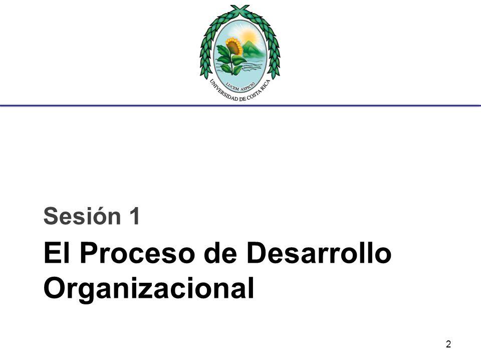El Proceso de Desarrollo Organizacional Sesión 1 2
