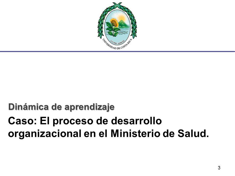 Caso: El proceso de desarrollo organizacional en el Ministerio de Salud. Dinámica de aprendizaje 3