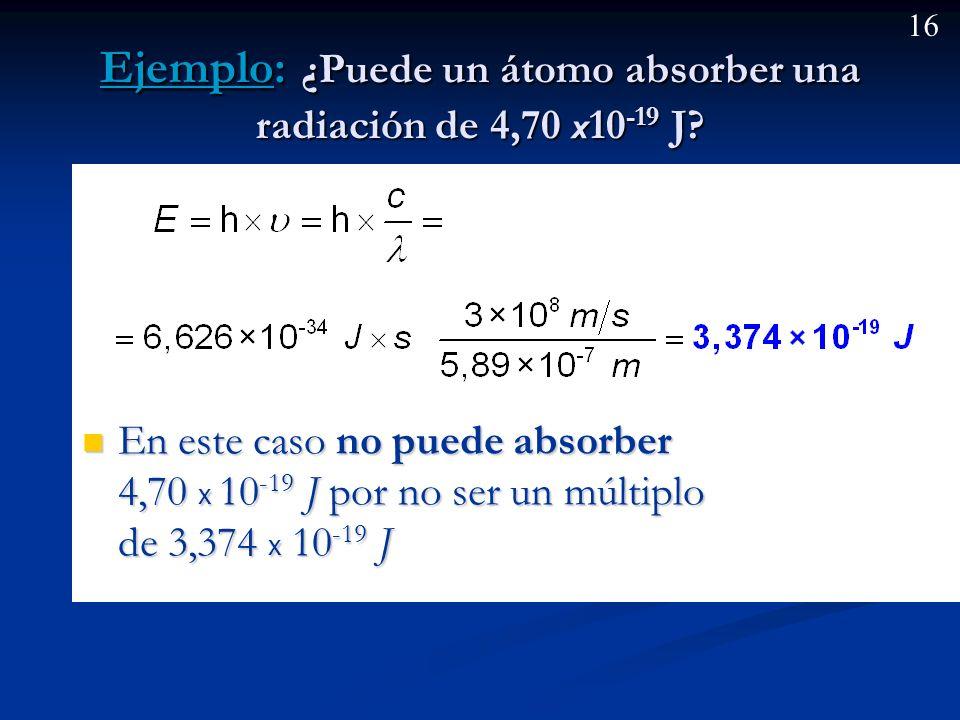 15 Hipótesis de Plank. Cuantización de la energía. (cont) Y la energía total emitida será por tanto un múltiplo de esta cantidad, según el número de á