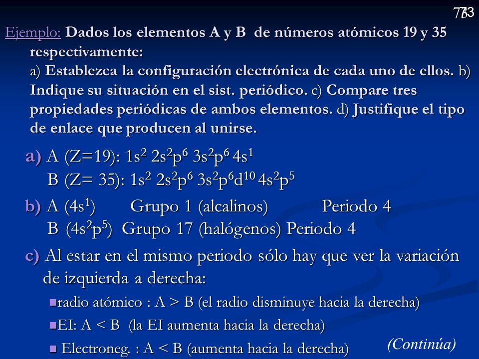 72 Aumento de la electronegatividad en la tabla periódica