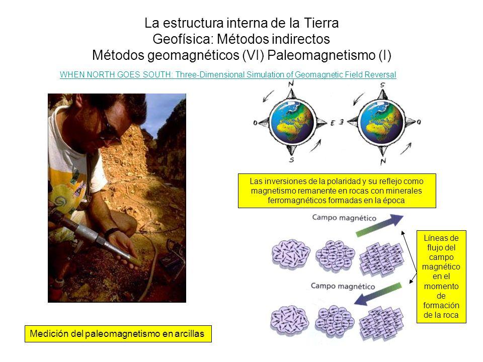 La estructura interna de la Tierra Geofísica: Métodos indirectos Métodos geomagnéticos (VI) Paleomagnetismo (I) Medición del paleomagnetismo en arcill