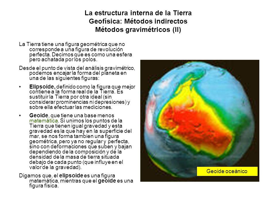 La estructura interna de la Tierra Geofísica: Métodos indirectos Métodos gravimétricos (II) La Tierra tiene una figura geométrica que no corresponde a
