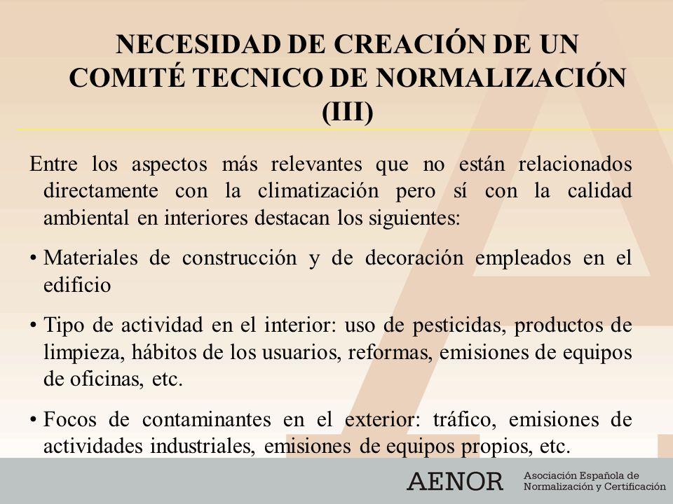 Características del asentamiento del edificio: fugas radón, posibles contaminaciones de usos anteriores, etc.