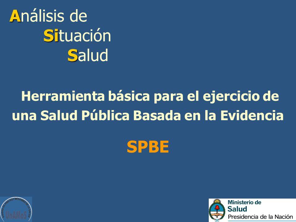 A Si S Análisis de Situación Salud Herramienta básica para el ejercicio de una Salud Pública Basada en la Evidencia SPBE