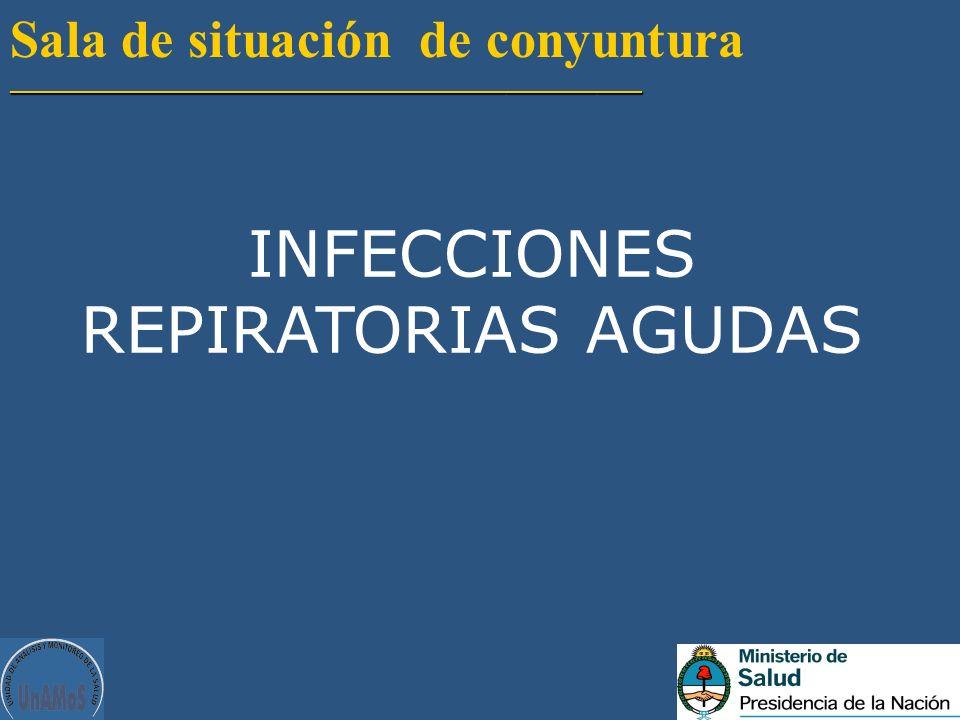 Sala de situación de conyuntura__________________________________________ INFECCIONES REPIRATORIAS AGUDAS