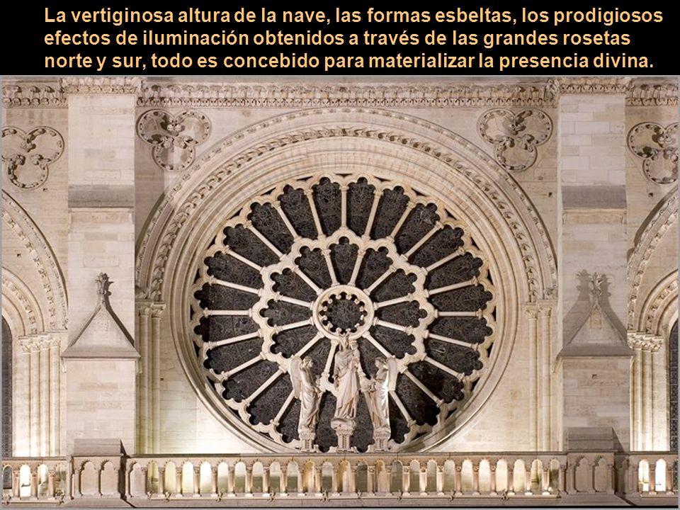 La arquitectura gótica se distingue por el uso combinado de bóvedas con nervios y contrafuertes volados, una técnica que permitió que las ventanas sus