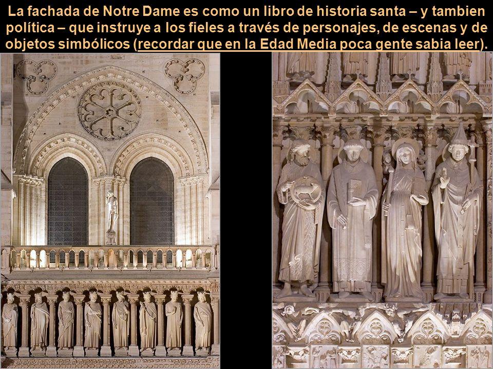 Notre Dame, como todas las iglesias medievales, estaba completamente decorada con frescos en el interior. El uso del color era una forma de dar gloria