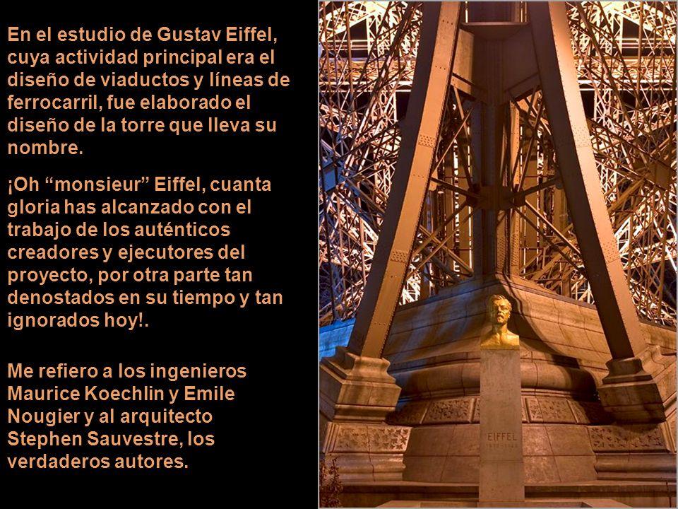 Construida para la Exposición Universal en conmemoración de la Revolución Francesa, la torre con la bandera flameando en la cumbre fue inaugurada el 3