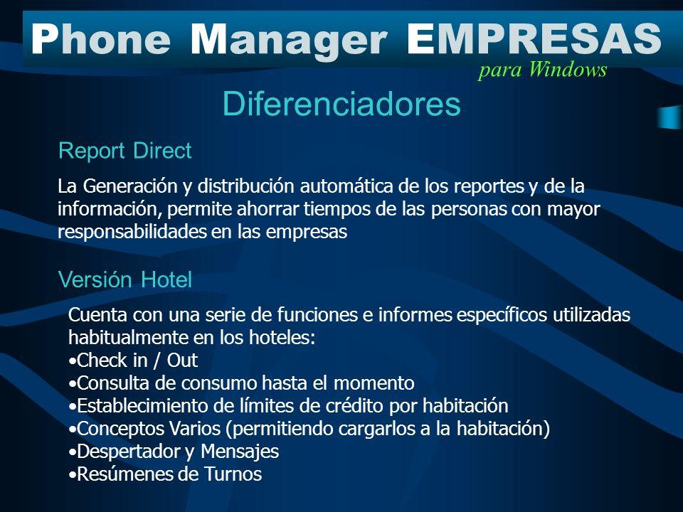 ¿Qué modelo de PME necesita mi empresa? PhoneManagerEMPRESAS para Windows PME 6.00 se encuentra dividido en 4 modelos, de acuerdo a las necesidades es