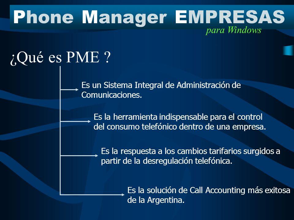 PhoneManagerEMPRESAS para Windows Es un Sistema Integral de Administración de Comunicaciones.