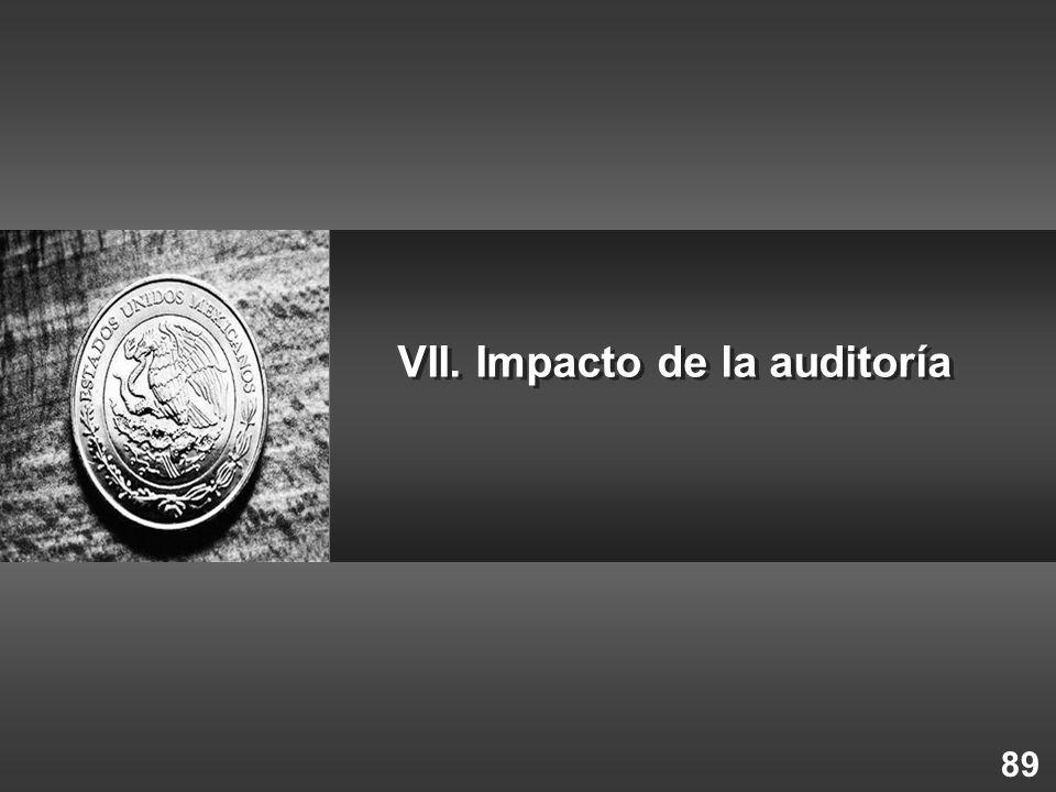 89 VII. Impacto de la auditoría