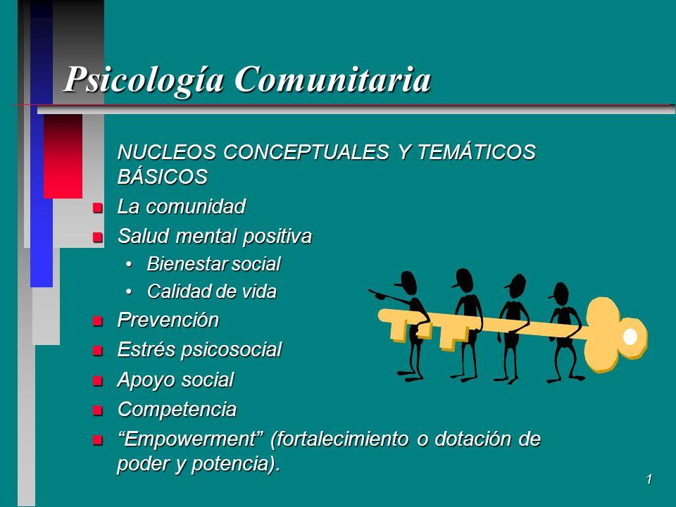 2 Conceptos teóricos como fundamentación de los métodos de acción comunitaria n El desarrollo de comunidad se fundamenta en el concepto de comunidad.