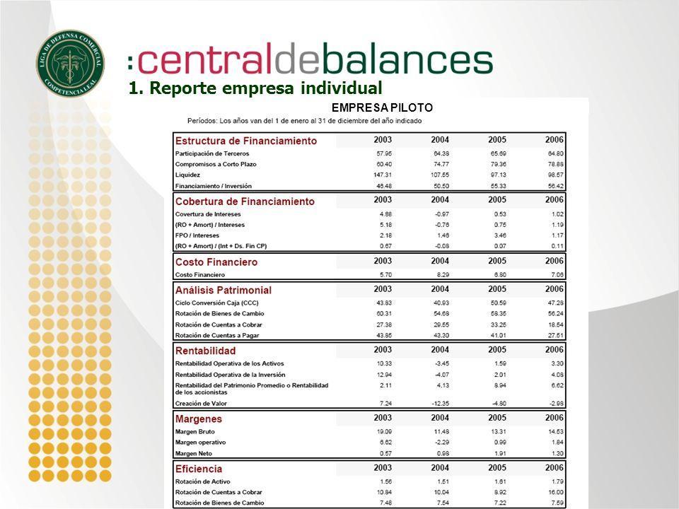 1. Reporte empresa individual EMPRESA PILOTO
