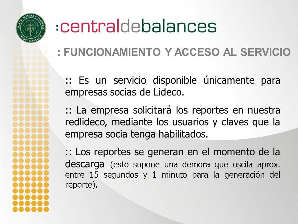 :: Es un servicio disponible únicamente para empresas socias de Lideco.