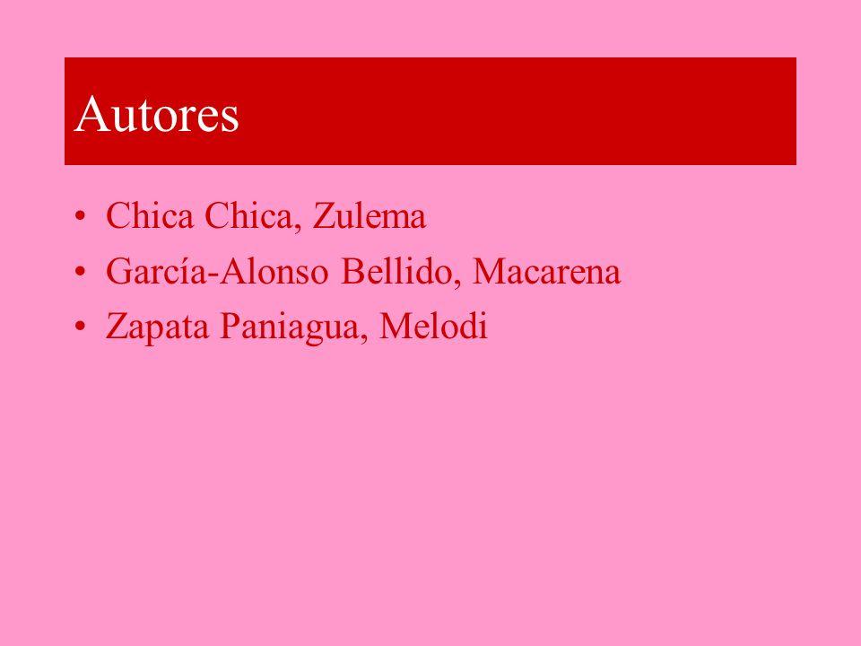 Autores Chica Chica, Zulema García-Alonso Bellido, Macarena Zapata Paniagua, Melodi