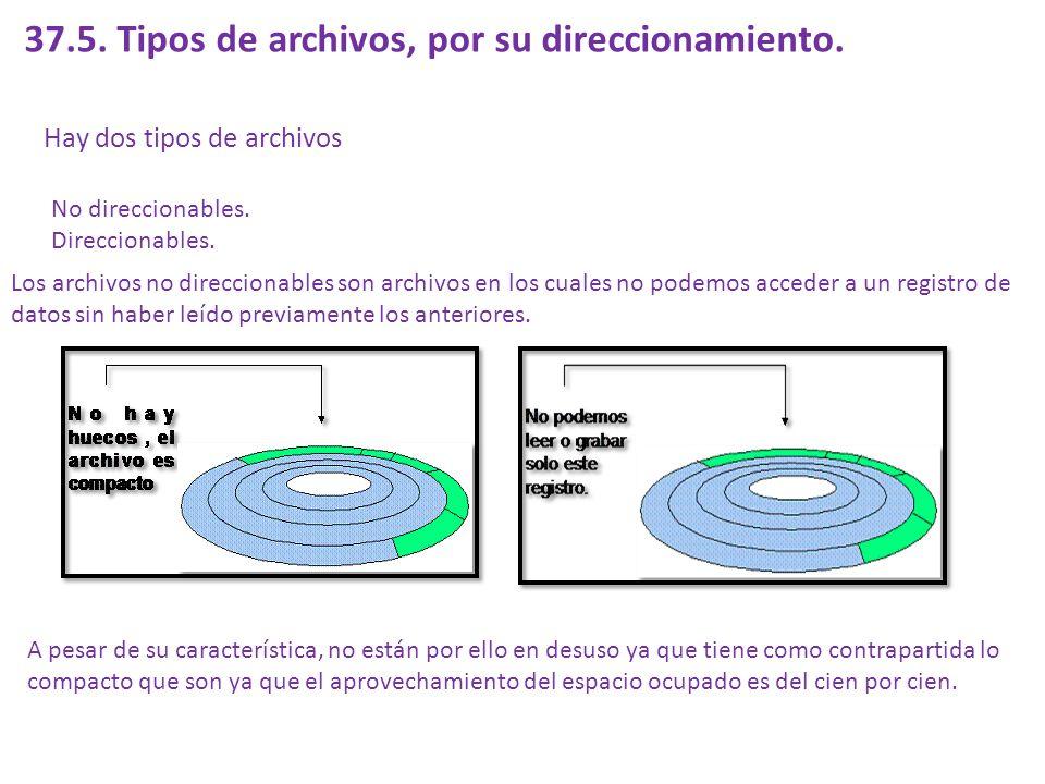 A su vez puede darse el caso que un archivo pueda tener distintos tipos de estructuras: Todos los registros son iguales.