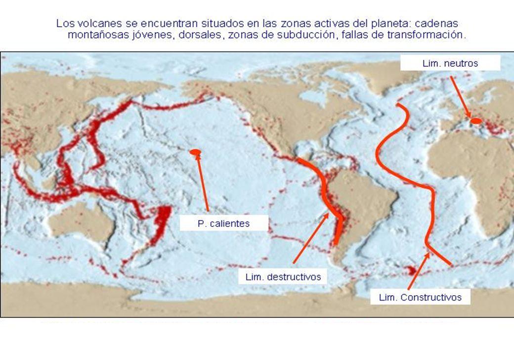I.- BORDES DIVERGENTES (ambientes oceánicos) La mayoría de los bordes divergentes se situan en las dorsales oceánicas.