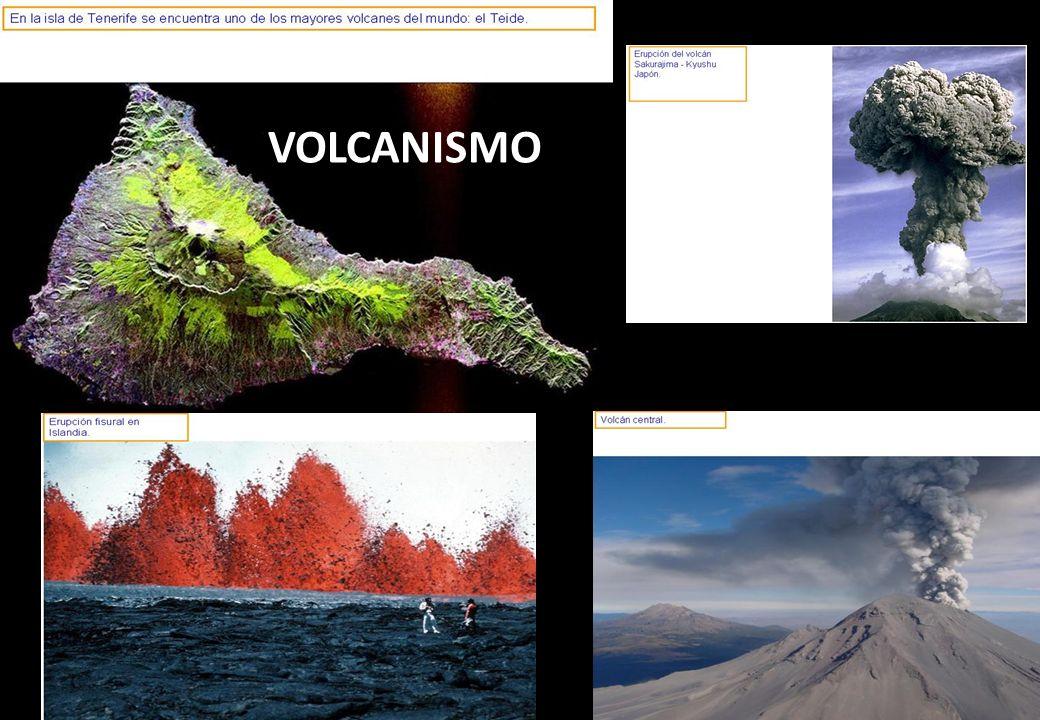 ISLAS OCEANICAS – PUNTOS CALIENTES Cadenas de islas y montañas sumergidas, producidas por el movimiento de placas sobre un punto caliente (magma) estacionario.