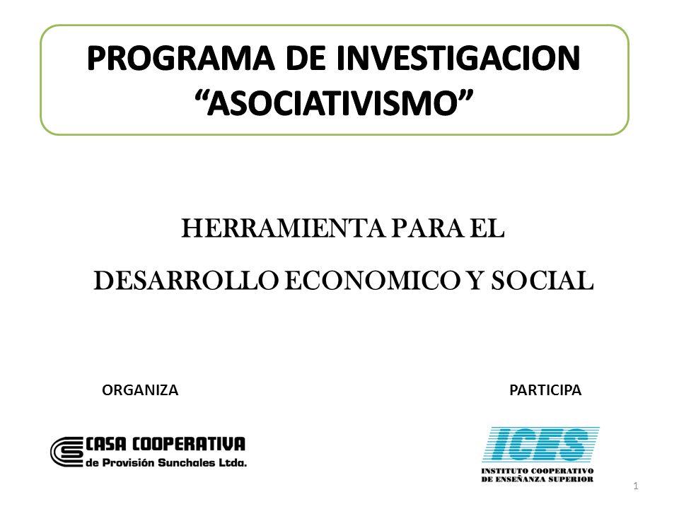 ORGANIZAPARTICIPA 1 HERRAMIENTA PARA EL DESARROLLO ECONOMICO Y SOCIAL