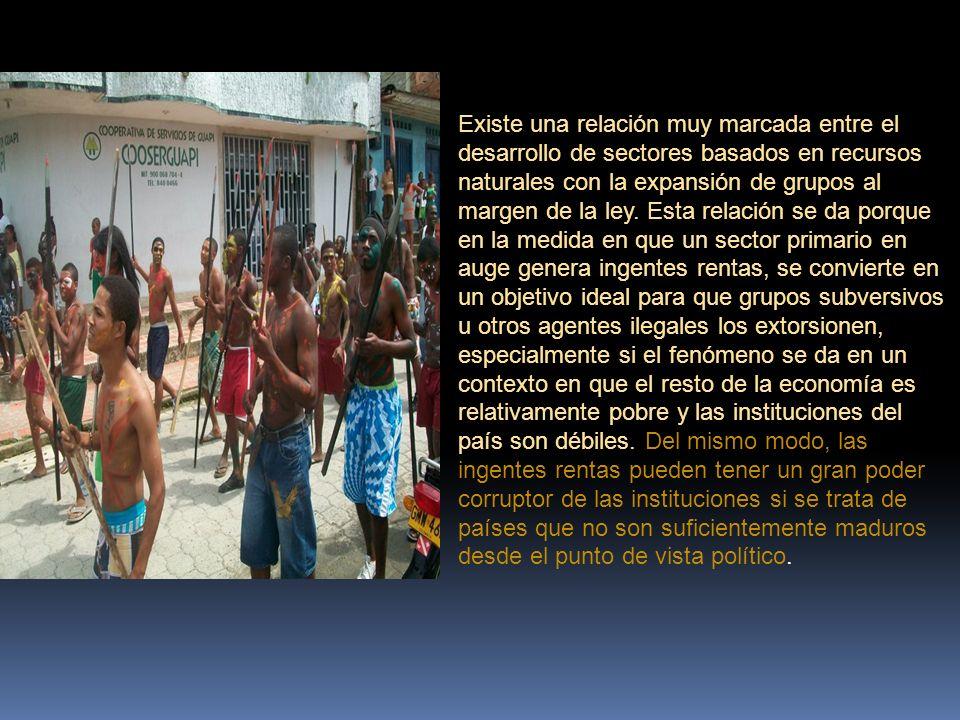El extractivismo se caracteriza por responder, en primer lugar, a las fluctuaciones y demandas del mercado mundial.