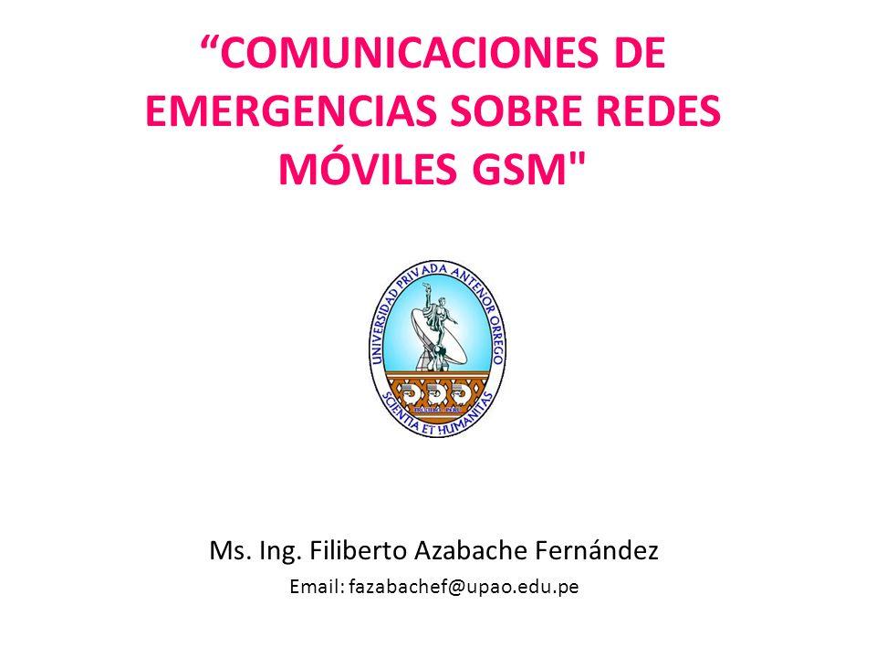 Sistemas de Comunicaciones Móviles Celulares En este dimensionamiento, no se consideran situaciones de emergencia ocasionadas por catástrofes.