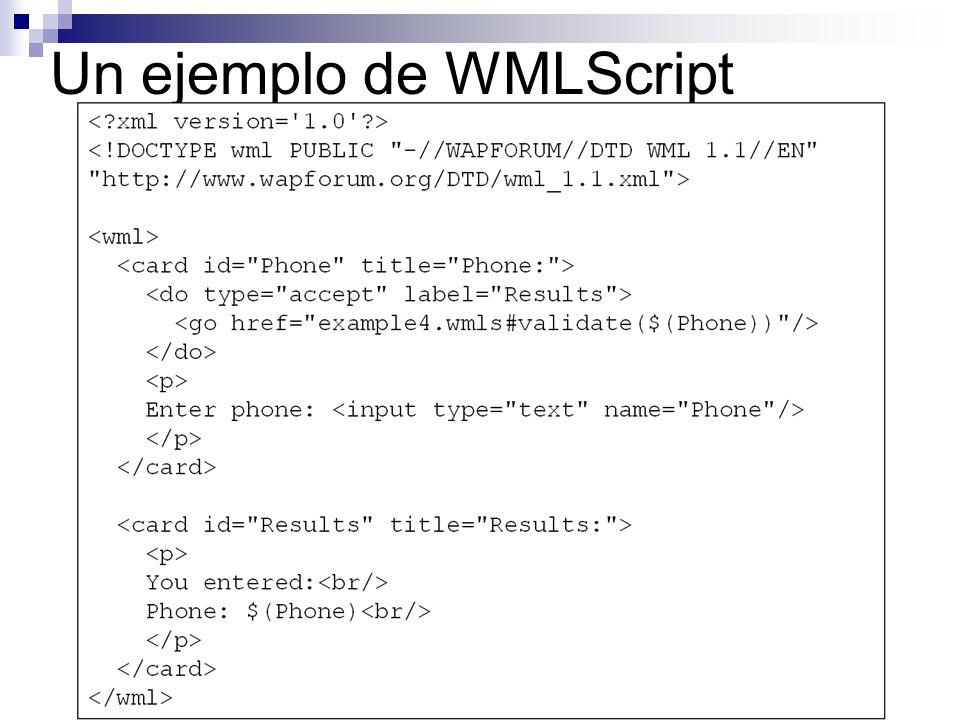 Un ejemplo de WMLScript